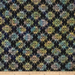 Indian Batik Sierra Nevada Southwest Black Multi Fabric