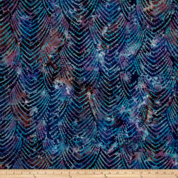 Indian Batik Gypsy Chevron Blue Multi Fabric