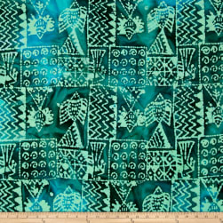 Indian Batik Ocean Grove Island Patch Green