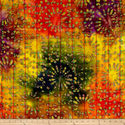Indian Batik Kaleidoscope Daisy Multi Fabric