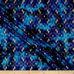 Indian Batik Montego Bay Gold Chevron Blue