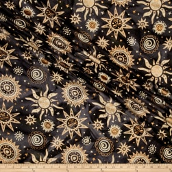 Indian Batik Odyssey Black Gold