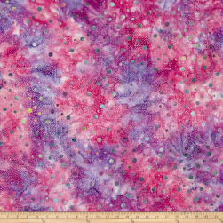 Batik Central Java Dots Purple/Fuchsia Fabric