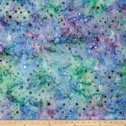 Batik Central Java Dots Blue/Purple/Green Fabric