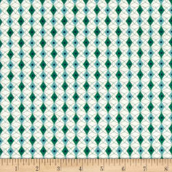 Cotton + Steel Rotary Club Facets Blue-Green Fabric