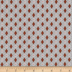 Cotton + Steel Rotary Club Facets Rust Fabric