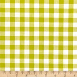 "Cotton + Steel Checkers Yarn Dyed Woven 1/2"" Citron"