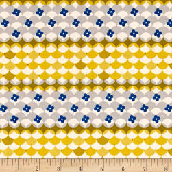 Cotton + Steel Trinket Gum Drops Yellow Fabric