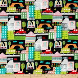 Alexander Henry Everyday Eden Pretty City Black Fabric