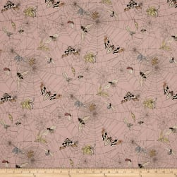 Alexander Henry The Ghastlies Web Mauve Fabric