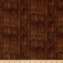 Mia Sonoma County Digital Print Wood Slat Brown
