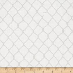 Grafic Chain Link Fence Birch Fabric