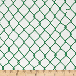 Grafic Chain Link Fence Elm Fabric