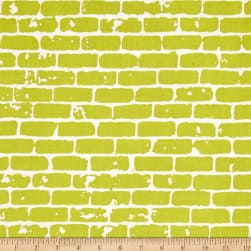 Grafic Brick Wall Sulfur Fabric
