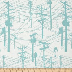Grafic Power Lines Aqua