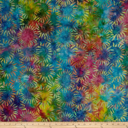 Hoffman Bali Batiks Sunflower Multi Fabric