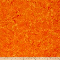 Bali Batiks Handpaints Sunflower Orange Fabric