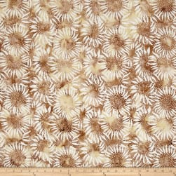 Bali Batiks Sunflower Biscuit Fabric