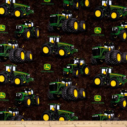 John Deere Proven Power Brown Fabric