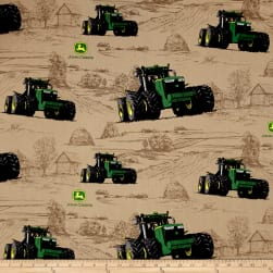 John Deere Big Time Farm Multi Fabric