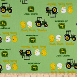 John Deere Nursery Duck, Duck, Tractor Green Fabric