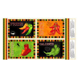 "Caliente Peppers 25"" Placemat Panel"
