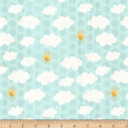 On The Road Again Sky Teal Fabric