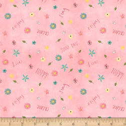 On The Road Again Small Floral Pink Fabric