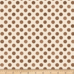 Romantic Afternoon Flannel Dots Tan/Brown Fabric