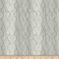 Neutral Nature Geo Waves Grey Fabric