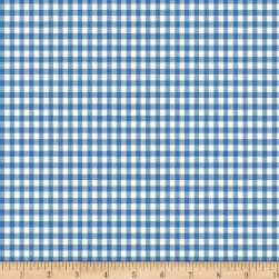 Backyard Pals Gingham Blue Fabric