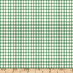 Backyard Pals Gingham Green Fabric