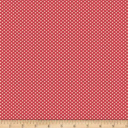 Backyard Pals Dots Red Fabric
