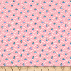 Backyard Pals Tiny Flowers Pink Fabric
