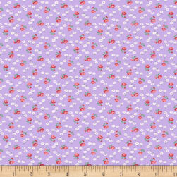 Backyard Pals Tiny Flowers Lavender Fabric