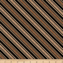 Sew Curious Diagonal Stripe Black Fabric