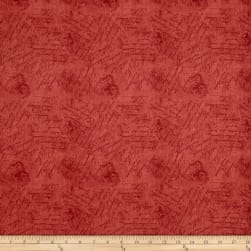 From The Chateau Scribbles Red Fabric
