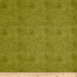 From The Chateau Scribbles Green Fabric