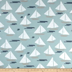 Premier Prints Cape May Spa Blue Fabric
