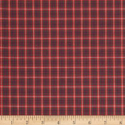 Tartan Plaid Red/Green/Navy Fabric