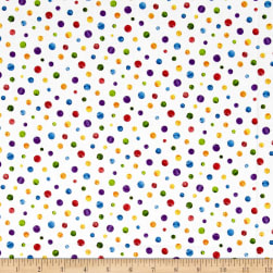Andover The Very Hungry Caterpillar Dots Multi Fabric