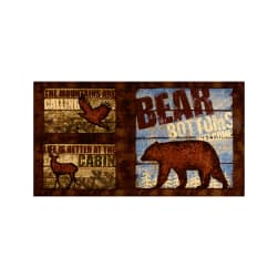 "Wilderness Flannel 24"" Panel Brown"