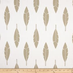 Premier Prints Feathers Gold Tones Fabric