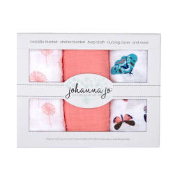 Shannon Embrace Double Gauze Swaddle 3 Pack Mariposa