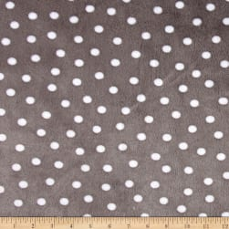 Shannon Minky Cuddle Alotta Dot Graphite Fabric