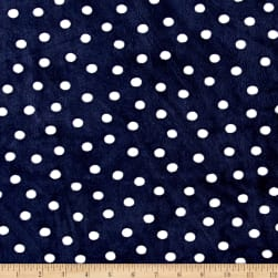 Shannon Minky Cuddle Alotta Dots Navy Fabric