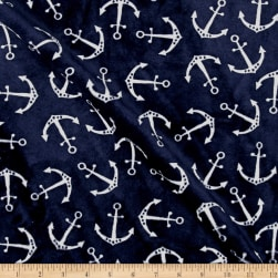 Shannon Minky Cuddle Anchors Navy