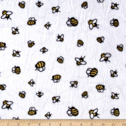 Shannon Minky Cuddle Bees-A-Buzz Sunshine Fabric