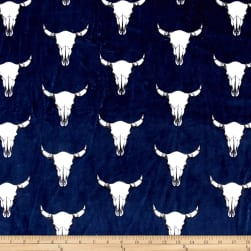 Shannon Minky Cuddle Bull's Eye Navy Fabric