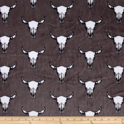 Shannon Minky Cuddle Bull's Eye Graphite Fabric